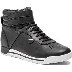e13739e236ef5 Geox buty sportowe damskie płaskie czarne sznurowane ...