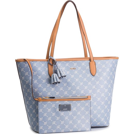 569396f930c0b Shopper bag Joop! duża niebieska z nadrukiem w Domodi