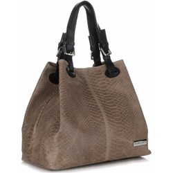 a0c3802782978 Shopper bag Vittoria Gotti casual skórzana