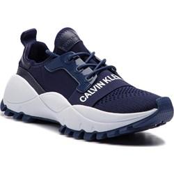 b9590101a Calvin Klein sneakersy damskie bez wzorów ze skóry ekologicznej ...