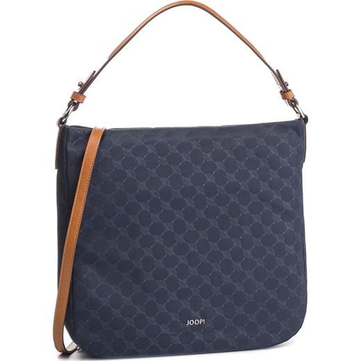 16e11608c7e44 Niebieska shopper bag Joop! na ramię duża casual z nadrukiem w Domodi