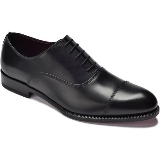 b5843947 Eleganckie czarne skórzane buty męskie oksfordy Borgioli  EleganckiPan.com.pl w Domodi