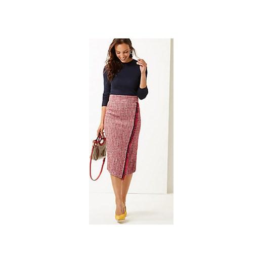 trwałe modelowanie Spódnica Marks & Spencer różowa midi Odzież Damska IR różowy Spódnice QQTB