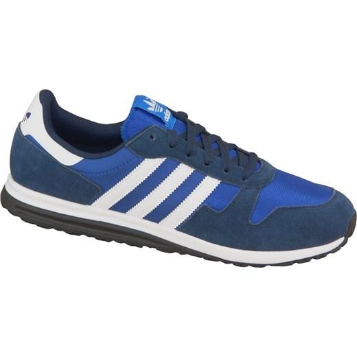 4d6184c601985 Granatowe buty sportowe męskie Adidas młodzieżowe sznurowane w Domodi