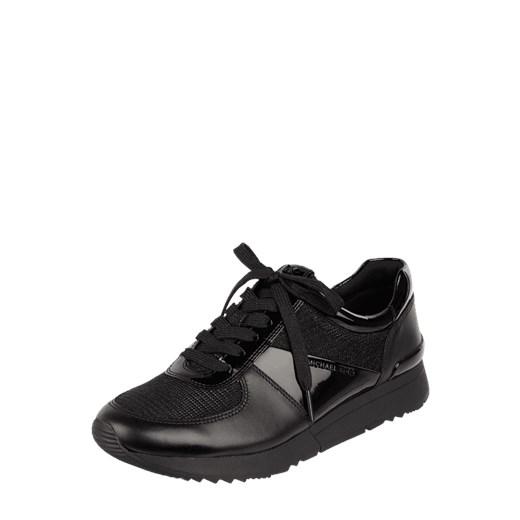 7dd10500cbe69 Sneakersy damskie Michael Kors wiązane czarne gładkie młodzieżowe na  platformie