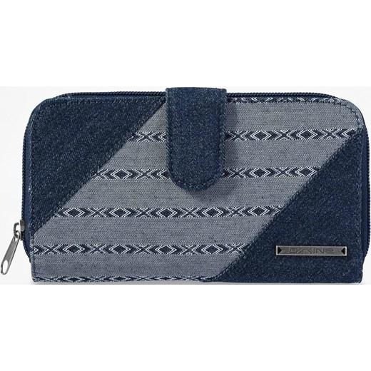 e1c63aa524780 Dakine portfel damski casualowy niebieski z nadrukami w Domodi