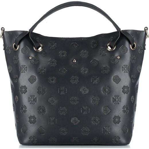 bdea853bd2094 Shopper bag granatowa Wittchen na ramię bez dodatków  Shopper bag Wittchen  z tłoczeniem mieszcząca a5 bez dodatków elegancka ...