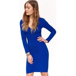 2d37cad6d9 Niebieska sukienka Top Secret z długimi rękawami ołówkowa