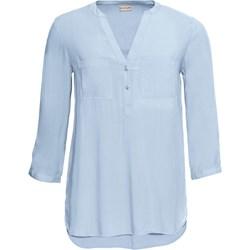 e9f2322d537c Bluzka damska niebieska BODYFLIRT gładka z długimi rękawami na wiosnę