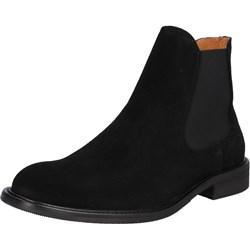 fa6ed70211d2d Czarne buty zimowe męskie Selected Homme bez zapięcia skórzane na zimę  casualowe