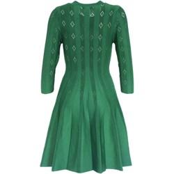 5135140bab Sukienka Joana Danciu z dekoltem w literę v zielona na urodziny mini