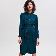 08785a6bc364 Sukienka Reserved szmizjerka z długim rękawem mini