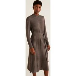 338bd2f515 Sukienka Mango z okrągłym dekoltem gładka na spacer