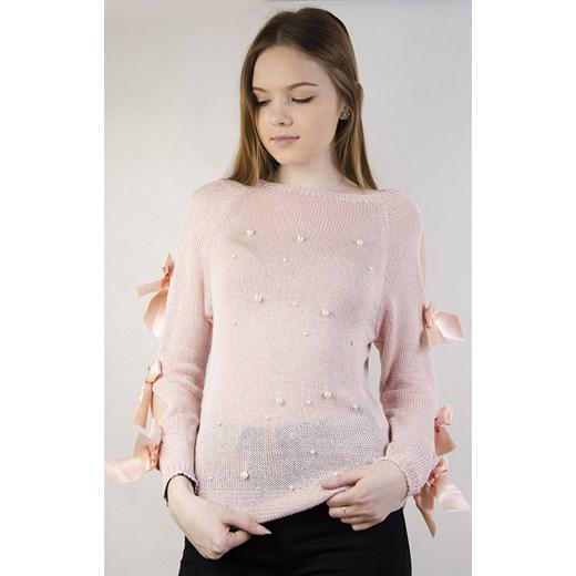 2d6dbffde51823 Sweter damski różowy Olika casual w Domodi