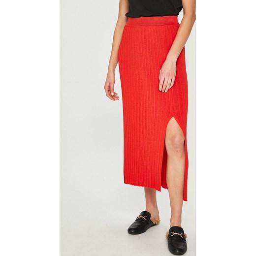 cb46692a1a5ffc Spódnica czerwona Answear z dzianiny w Domodi