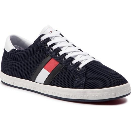 d6bac651c3fa4 Sneakersy TOMMY HILFIGER - Essential Flag Detail Sneaker FM0FM02202  Midnight 403 Tommy Hilfiger 41 eobuwie.