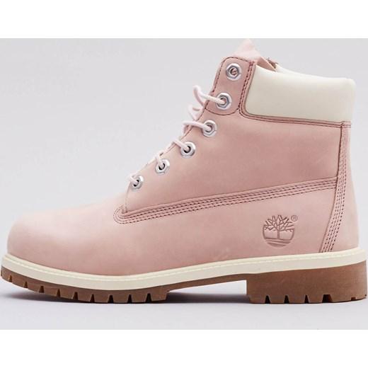 Cena hurtowa niesamowita cena dobry Workery damskie Timberland jesienne różowe płaskie bez wzorów1