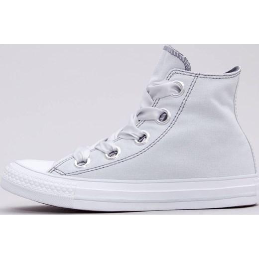 41f13d65f98fa Trampki damskie białe Converse all star na płaskiej podeszwie sportowe bez  wzorów z wysoką cholewką