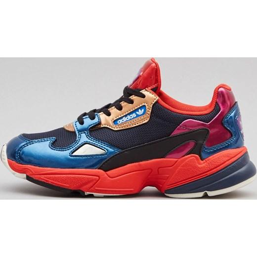 first rate 66298 f611a Buty sportowe damskie Adidas sneakersy na koturnie bez wzorów sznurowane