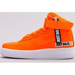 newest f72e9 2040c Buty sportowe damskie Nike do koszykówki air force pomarańczowe skórzane  wiązane na koturnie bez wzorów