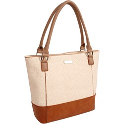 5c1e2f231a791 Shopper bag beżowa Doca