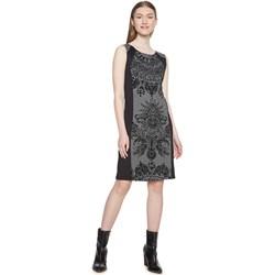 842bc51c15f71c Sukienka Desigual na bal szara na spacer bez rękawów