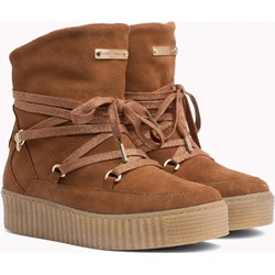 c6f8e665a3433 Tommy Hilfiger sneakersy damskie skórzane jesienne casualowe