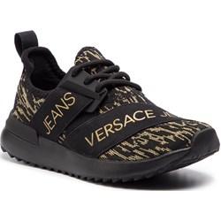 b84f39c3f Buty sportowe damskie wielokolorowe Versace Jeans ze skóry ekologicznej  sznurowane w nadruki