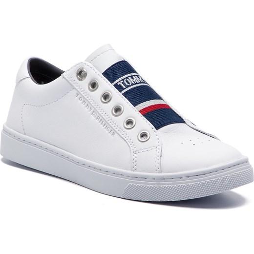 61c71db9746b4 Sneakersy TOMMY HILFIGER - Tommy Elastic City Sneaker FW0FW04019 White 100 Tommy  Hilfiger 37 eobuwie.