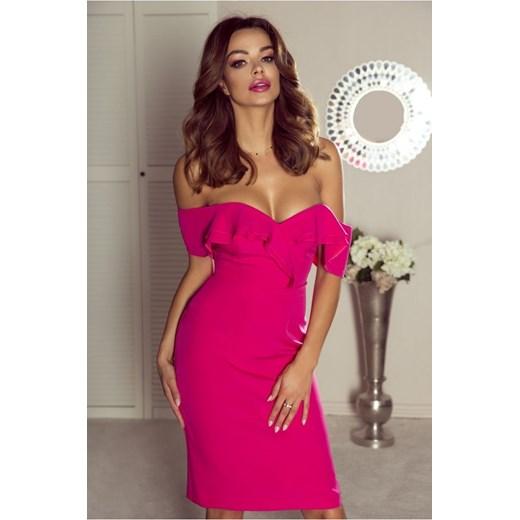 ea7926229e Sukienka Bergamo różowa dopasowana mini w Domodi