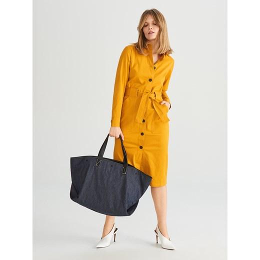 ed77f8a2bcd74 Shopper bag Reserved casualowa duża; Reserved - Duża torba typu shopper - Granatowy  Reserved One Size ...