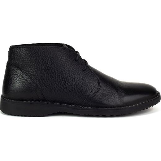 cb69b99627e3e Geox buty zimowe męskie ze skóry ekologicznej sznurowane w Domodi