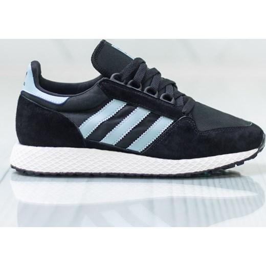 f6ad7785 Buty sportowe damskie Adidas do biegania niebieskie sznurowane na koturnie