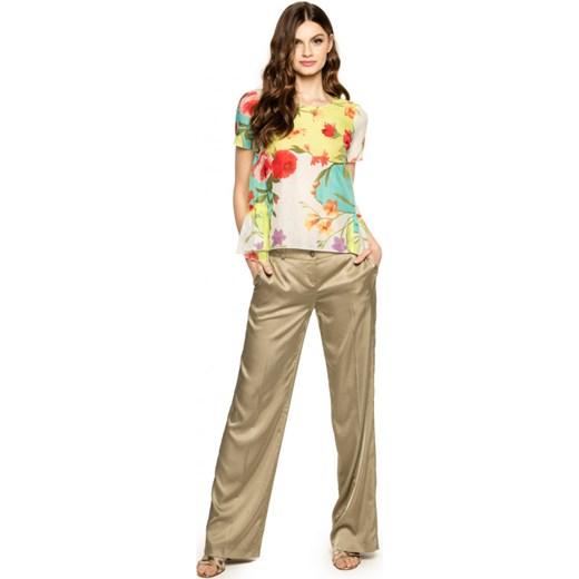 53c17f3c Letnie spodnie z błyszczącego materiału POTIS & VERSO JASMINE szary  Potis&verso Eye For Fashion