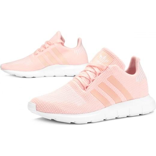 Adidas buty sportowe damskie do biegania różowe gładkie w Domodi