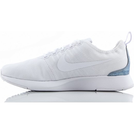 Buty sportowe damskie białe Nike do biegania sznurowane na