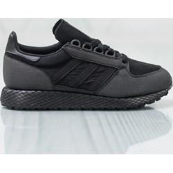 c65dcabf7ae1c Buty sportowe damskie Adidas do biegania czarne na koturnie sznurowane