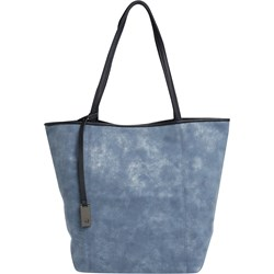 5bd49e23f34f5 Shopper bag niebieska Tom Tailor Denim na wakacje