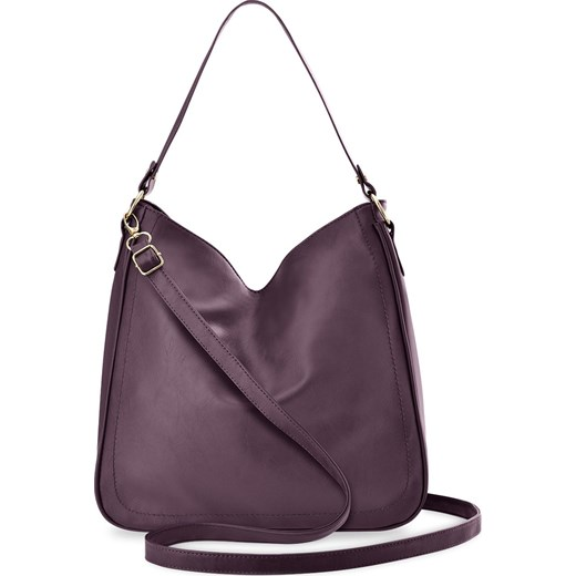 03911cbd90715 Pojemna torebka damska na ramię torba worek duża shopperka z dwoma paskami  - fioletowy world- ...