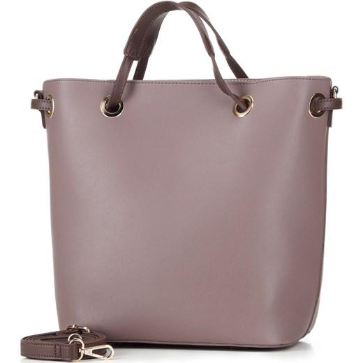 c8ffb35f655b0 ... Shopper bag Wittchen fioletowa duża elegancka  Shopper bag Wittchen na  ramię ze skóry ...