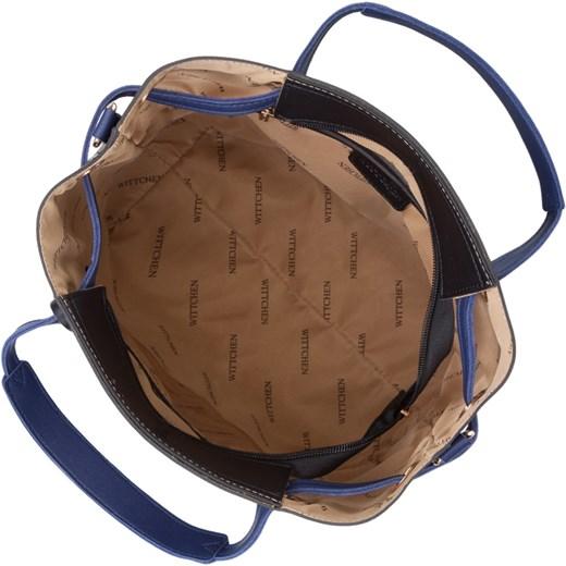 7f2bbd52929dd ... Shopper bag Wittchen matowa ze skóry ekologicznej duża elegancka na  ramię ...