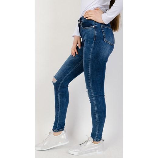 Jeansy damskie niebieskie Olika gładkie Odzież Damska DE niebieski Jeansy damskie IEOK szyk