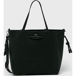 13fabc2c55bc2 Shopper bag Pepe Jeans czarna ze skóry ekologicznej