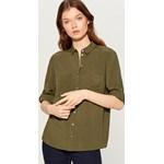 1b94a00485b8 Mohito - Militarna bawełniana koszula z naszywkami Zielony szary w ...