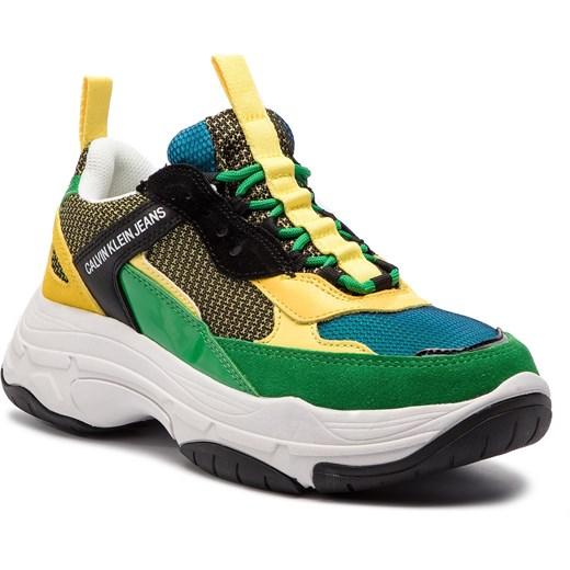 Calvin Klein buty sportowe męskie wielokolorowe sznurowane