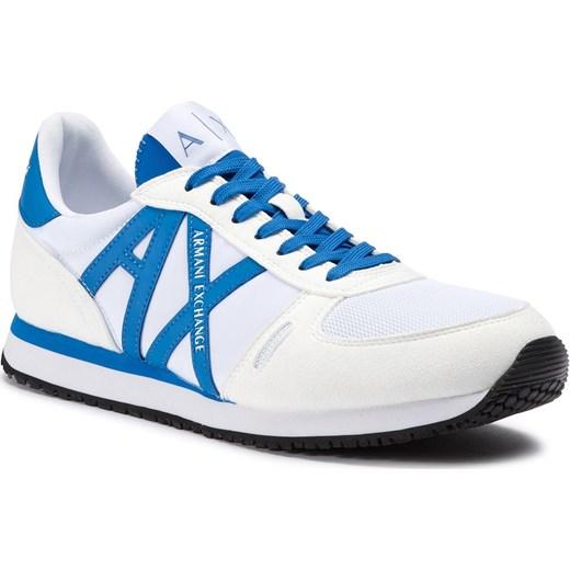 06f7bcad02f3f Armani buty sportowe męskie białe z tworzywa sztucznego wiązane w Domodi