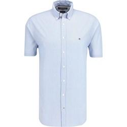b78fc5fc61495 Koszula męska Tommy Hilfiger z kołnierzykiem button down niebieska z  krótkimi rękawami