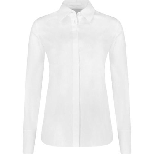 e16101895e899 Koszula damska biała Boss elegancka z kołnierzykiem z długimi rękawami