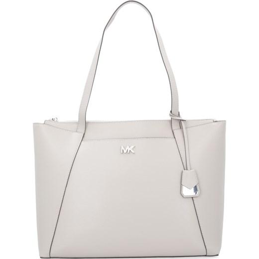 26b60a314d1b4 Michael Kors shopper bag na ramię biała matowa skórzana casualowa w ...