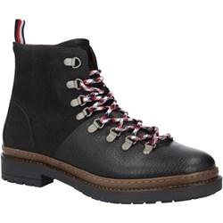 e22f415934536 Buty zimowe męskie czarne Tommy Hilfiger sznurowane